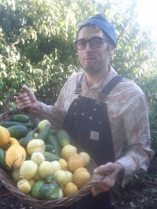 Jeff surprised and delighted with cucumber harvest , they keep going!